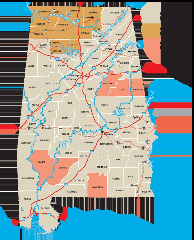 Alabama Turkey Hunting Map
