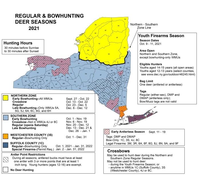 New York Deer Hunting Season Map