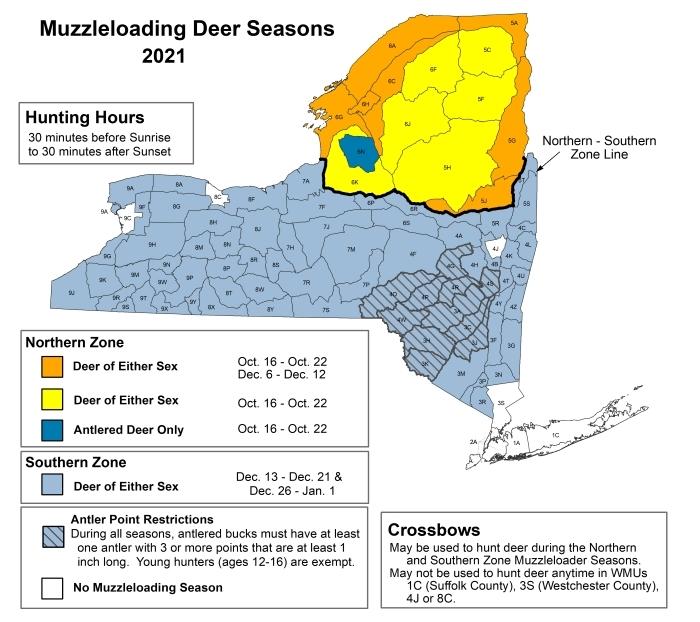New York Deer Muzzleloading Hunting Seasons