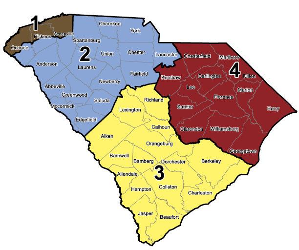 south carolina game zones