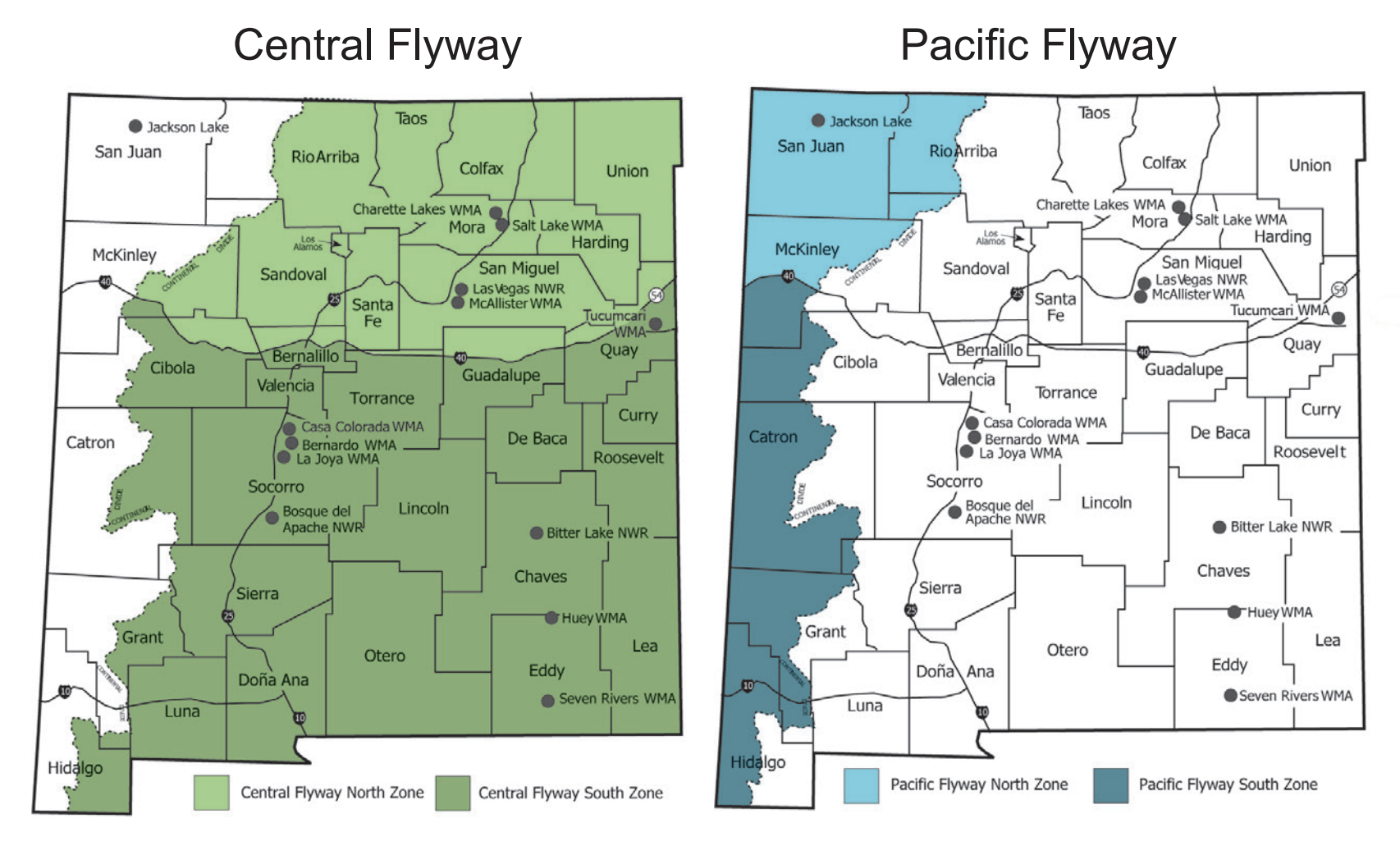 Flyway Hunting Areas Map