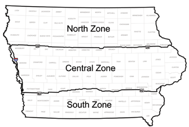 Duck and Goose Hunting Zones