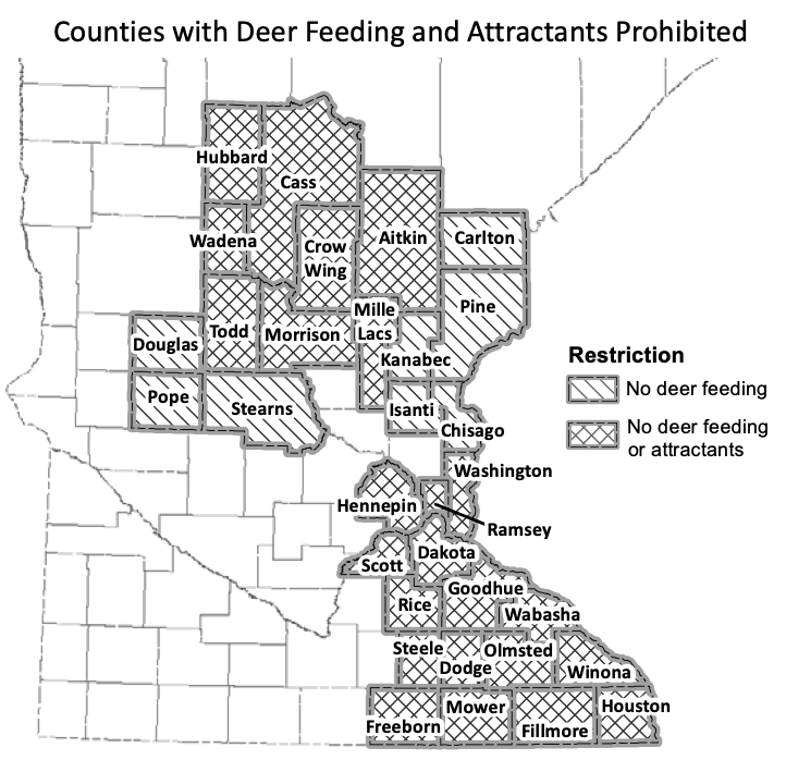 Counties with Deer Feeding and Attractants Prohibited