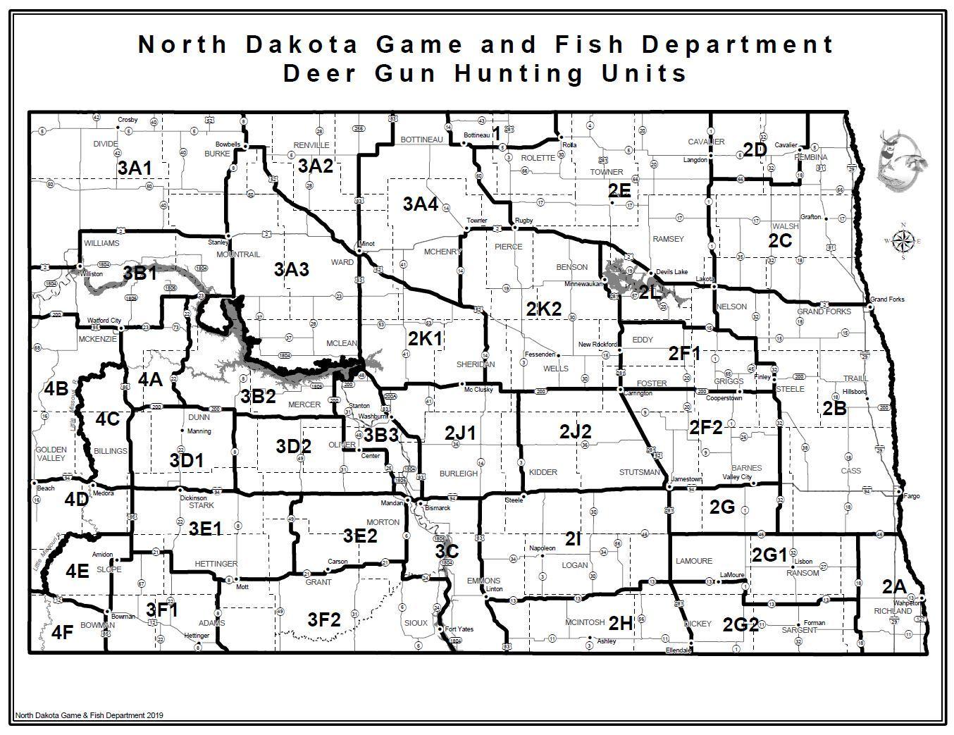 Deer Gun Hunting Units Map