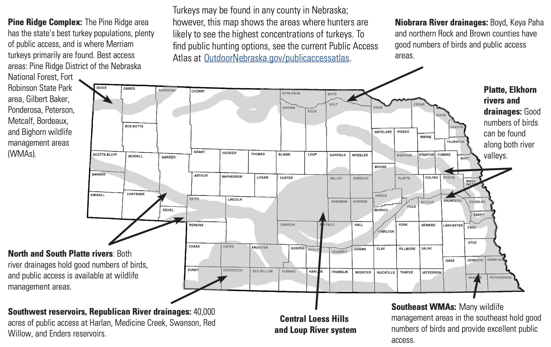 Fall Turkey Hunting Map