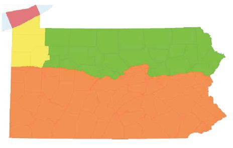 Pennsylvania Duck Zone Map